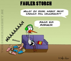 fauler storch