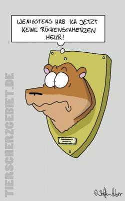 Cartoon Rückenschmerzen