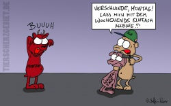 Cartoon Montagsstimmung