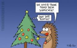 Cartoon Weihnachten - Bäumchen schmück dich