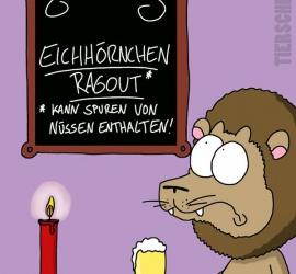 Cartoon Eichhörnchen-Ragout